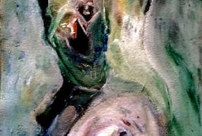 Pintor y el eco del grito. Paínter and echo the cry. Tomás Bartolomé. Pintura.